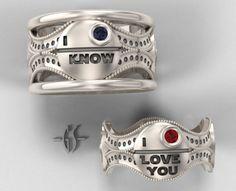 Star Wars Wedding Rings is impressively geekastic!