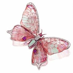 Fantastic Pink Butterfly Brooch.