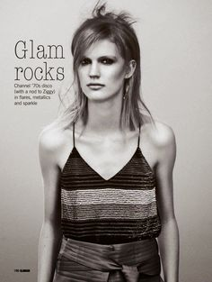 """Glam Rocks"" Anniek Kortleve for Glamour UK May 2015"
