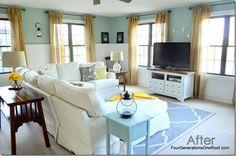 DIY Coastal Cottage family room