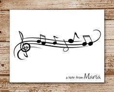 Set of 8 Music Note Cards Notecards  by CelebrateLilThings on Etsy, $12.00