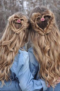 Instantly transform your hair with Dirty Blonde clip-in Luxy Hair extensions and feel more confident with thicker, longer hair than you've ever had before! Dirty Blonde is truly a beautiful shade and Valentine's Day Hairstyles, Creative Hairstyles, Little Girl Hairstyles, Trendy Hairstyles, Braided Hairstyles, Wedding Hairstyles, Braided Updo, Heart Braid, Luxy Hair Extensions