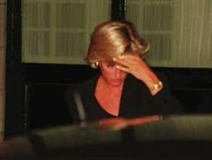 Princess Diana minutes before her death 1997. Wearing her favorite gold watch.