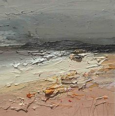 Chris Bushe - Late Autumn Beach and a Foreboding Sky, oil Seascape Paintings, Nature Paintings, Landscape Paintings, Art For Art Sake, Beach Art, Types Of Art, Abstract Canvas, Contemporary Paintings, Abstract Landscape