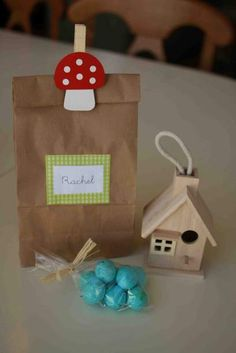 Include chocolate eggs, natural stick thick pencil and pad plus an animal or a bird house
