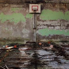"""Photo by @GerdLudwig. Floors decay and paint disintegrates at a school gymnasium in Pripyat where teens once tumbled and trained. Following the Chernobyl nuclear disaster in 1986 Pripyats 50000 inhabitants were evacuated along with residents of the other towns in the Zone. The radiation has rendered the area unfit for human habitation for many years to come.  April 26 marks the 30th anniversary of the Chernobyl nuclear disaster. To see and learn more check out my iPad app """"The Long Shadow…"""