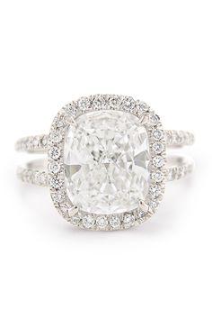 Louis Glick - 3.02ct Cushion Cut Diamond Ring from Osterjewelers.com