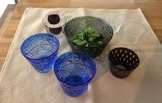 Kazumi Tsuji glassware. 辻 和美
