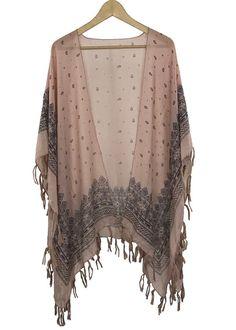gypsy soul cardigan kimono (pink)
