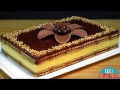 TARTA DE FLAN CON GALLETAS Y CHOCOLATE, RECETA SIN HORNO Y MUY FÁCIL - Paso a paso - Loli Domínguez - YouTube Flan, Food Cakes, Dessert Salads, Dessert Recipes, Japanese Cheesecake Recipes, Chess Cake, Mets, Recipe Images, Cakes And More