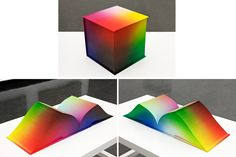 What a superb coffee table 3D book all about the #RGB Colorspace Atlas – Digital offset print on paper, case bound book, airbrushed cloth cover and page edges