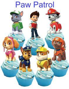 28 Paw Patrol Cupcake toppers by iamsoxhy on Etsy Paw Patrol Cupcake Toppers, Paw Patrol Cupcakes, Paw Patrol Party, Paw Patrol Birthday, Paw Patrol Dress, Torta Paw Patrol, Paw Patrol Decorations, Paw Patrol Invitations, Fireman Party