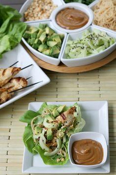 Thai Lettuce Wraps With Chicken & Avocado.