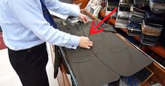This tailor definitely knows his stuff - How to fold a suit and shirt for travel so it doesn't wrinkle!