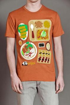 Lunch and shirt all in the same package.