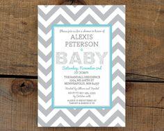 chevron baby shower decorations | Chevron Baby Shower Invitation | Baby Shower ideas