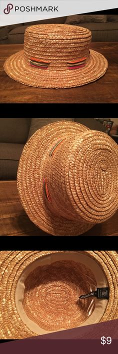Shady lady boater hat Small, woven hat from Lord & Taylor  Never worn Lord & Taylor Accessories Hats