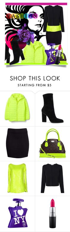 """""""Perfect Puffer Jackets"""" by kari-c ❤ liked on Polyvore featuring Alexander Wang, OTTO, H&M, Coach, Blumarine, Bond No. 9, MAC Cosmetics and puffers"""