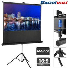a 100 1080p lcd led 3d 169 pantalla de proyector proyeccion con tripode estable