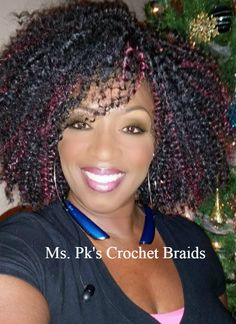 This lovely lady is wearing Bohemian 1b/530. This is a wonderful look for the holiday season. Hair installed by Ms. Pk's Crochet Braids located in GA #mspkscrochetbraids #proctectivestyle #crochetbraids Enjoy!