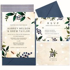 Summer Berries - Hand Painted Weddings by Huckleberry Paper! I'm in love!