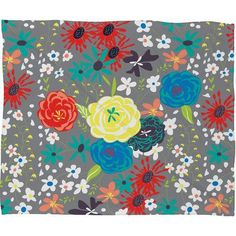 DENY Designs Vy La Bloomimg Love Throw Blanket Size: Small