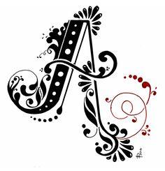 Download jill de haan's floral alphabet   Hand lettering, Creative ...