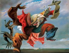 The Fireside Angel by Max Ernst (1937) - The artist cautioned about the rise of evil Fascism in 1930s Europe with this dynamic and chaotically haunting artwork.