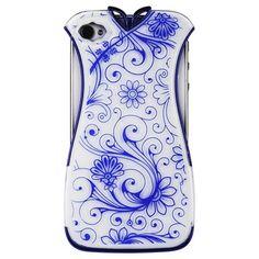 Накладка для iPhone 4 | 4S Платье (бело-синяя) купить в интернет-магазине BeautyApple.ru.