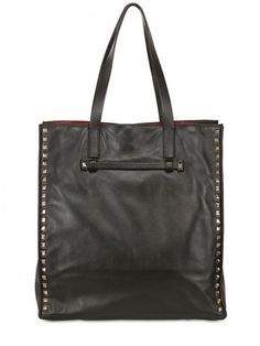 Valentino Rockstud Nappa Leather Tote