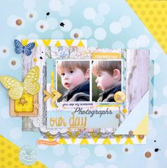 #papercraft #scrapbook #layout.  Our day by Choup72 at @Studio_Calico