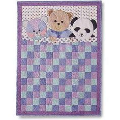 Quilt Pattern Using 3 Colors | Teddy Bears and Quilt Patterns | Quilters Showcase THIS IS SUCH A CUTE BABY QUILT! 04/16/15 JS