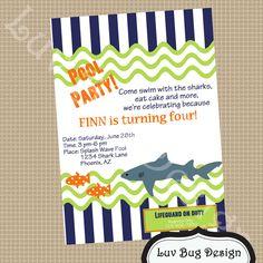 free party invitation templates | Free Printable Pool Party Invitation Templates