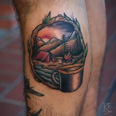 Go Outdoors With These Fun Camping Tattoos!
