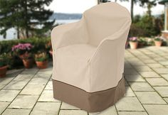 Resin plastic chair cover - I really must work out how to make one ...
