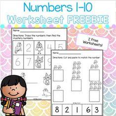 Homeschool Worksheets, Free Worksheets, Numbers 1 10, Homeschool Kindergarten, Classroom Environment, Math Stations, Teacher Newsletter, Early Childhood, Teaching