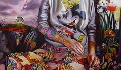 """""""Identityless"""", oil on canvas, 130cm x 75cm, 2014.  http://justynakisielewicz.com/praca,125,identityless"""