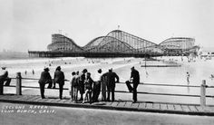 A great nostalgic view of the Cyclone Racer in Long Beach, one of the more famous coasters ever created. The wooden structure was completed in 1930 and demolished in 1968. Since then, a few coaster aficionados have campaigned for the reconstruction of the coaster for new generations to enjoy. (Photo: Long Beach Historical Society)