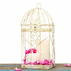 Christmas Decorations Wire Metal Bird Cage by OpenVintageShutters