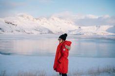 Gal Meets Glam Iceland Itinerary Part 1 - Canada Goose Coat, Patagonia Jacket, J.Crew Turtleneck, Black Ski Pants, Sorel Boots & Moncler Beanie