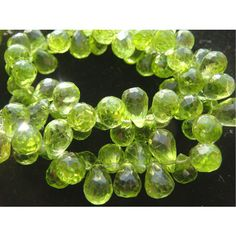 Peridot  Peridot Micro Faceted Tear Drop by gemsforjewels on Etsy, $43.30