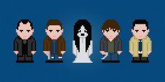 Supernatural - TV Characters - Digital PDF Cross Stitch Pattern