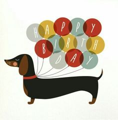 Dachshund happy birthday balloon card sausage dog happy birthday dog birthday balloons greeting card card for dog lovers Happy Birthday Dachshund, Dog Birthday, Card Birthday, Happy Birthday Pictures, Happy Birthday Greetings, Happy Birthday Diane, Dachshund Art, Daschund, Happy Birthday Balloons
