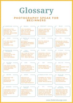 Glossary of 24 photography terms for beginners Essential photography cheatsheet! Glossary of photography terms with explanations of fundamental photography concepts. Click through for our jargon busting photography cheat sheet. Blue Photography, Photography Cheat Sheets, Dslr Photography Tips, Popular Photography, Photography Challenge, Photography Tips For Beginners, Photography Lessons, Photography Business, Photography Tutorials