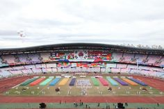 """At Seoul Jamsil Olympic Main Stadium, athlete teams are marching into the grand event of """"The 6th Culture and Sports Celebration of Restoring Light"""" hosted by Shinchonji Church of Jesus the Tabernacle of Testimony (Chairman Lee Man Hee) and Mannam Volunteer Organization (Representative Kim Nam Hee)."""