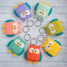 Excited to share the latest addition to my #etsy shop: Cute animal keychains. Great for kids as party favors hibou cute keychain grandma keyring owl figurine kids keychain backpack charm https://etsy.me/2GSNJek #partyfavor #keychain #cuteowls #brighttalesbykvitka