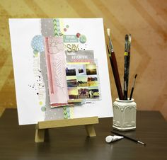 All Scrapbook Steals - The Blog: Giveaway Winners and Amy Tangerine Yes Please page layout
