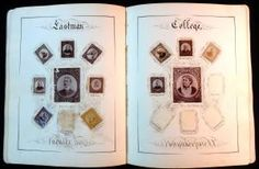 A large format autograph and friendship album with fine Calligraphy, Autographs and Stamp Portrai...