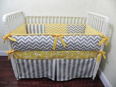 Custom Baby Bedding Set Brodie   Gray Chevron by BabyBeddingbyJBD, $239.00