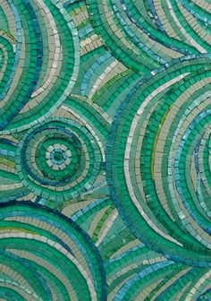 Beautiful mosaic greens